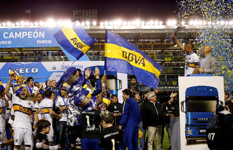 Boca Juniors se consagró campeón del torneo de Primera División Julio Humberto Grondona tras derrotar a Tigre en La Bombonera. EFE