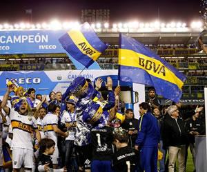 Partido completo y celebración del título de Boca