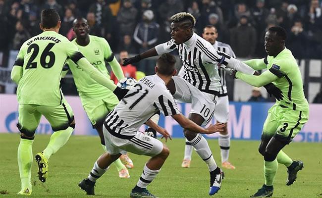 Juventus venció 1-0 a Manchester City y se clasificó a octavos de final. Foto: EFE