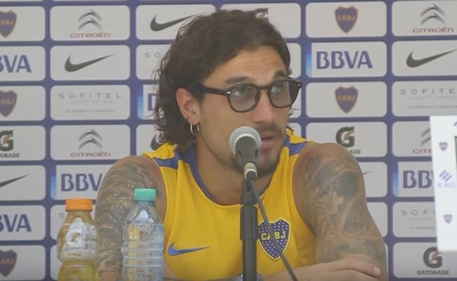 Daniel Osvaldo en su primera rueda de prensa. Foto: YouTube