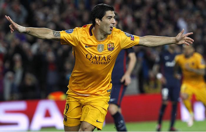 Suárez celebra el segundo gol de su equipo. Foto: EFE