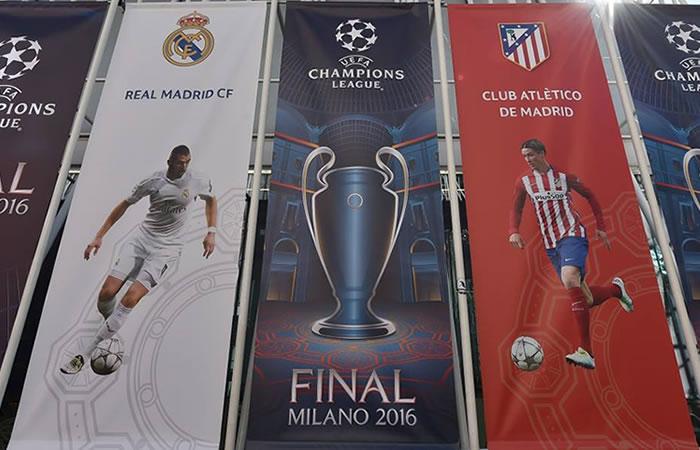 Milán está lista para recibir al Real Madrid y al Atlético de Madrid. Foto: facebook/uefachampionsleague