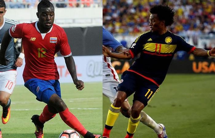 Cuadrado y Campbell fueron confundidos por la organización de la Copa América. Foto: EFE