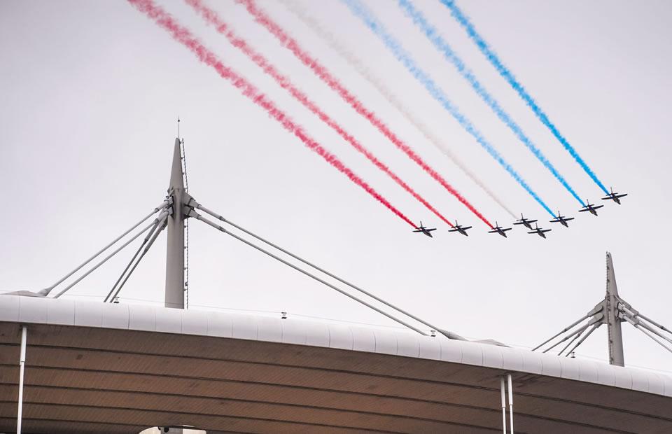 Así fue la inauguración de la Eurocopa. Foto: EFE