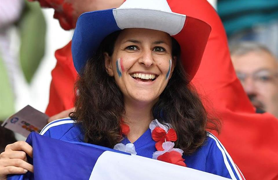 Hinchas de Francia. Foto: EFE
