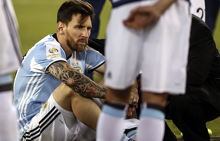Lionel Messi le dice adiós a la selección Argentina. Foto: EFE