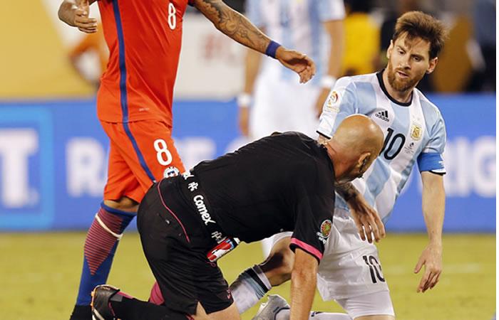 Argentina perdió la final contra Chile. Foto: EFE
