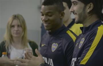 Frank Fabra y Sebastián Pérez compartieron con los hinchas de Boca