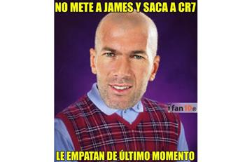 James Rodríguez, Cristiano y Zidane protagonizan estos memes