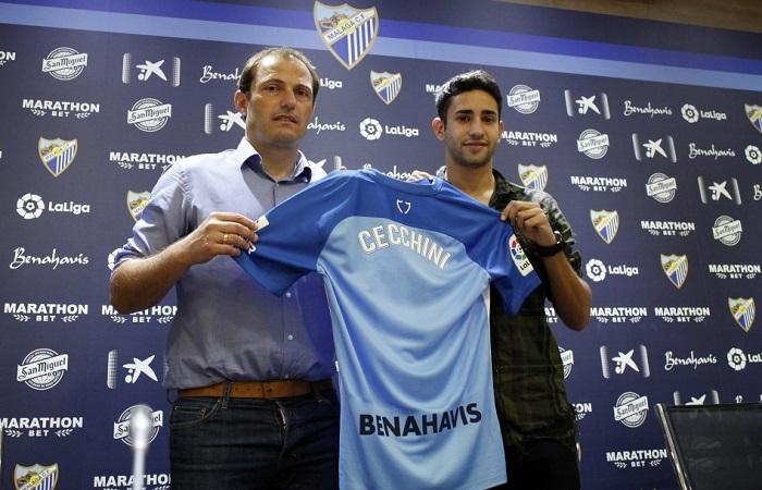 Cecchini es presentado en Málaga. Foto: Twitter