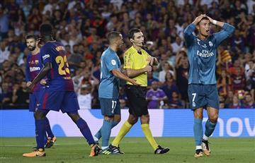 Cristiano Ronaldo es suspendido con cinco partidos por empujón a árbitro