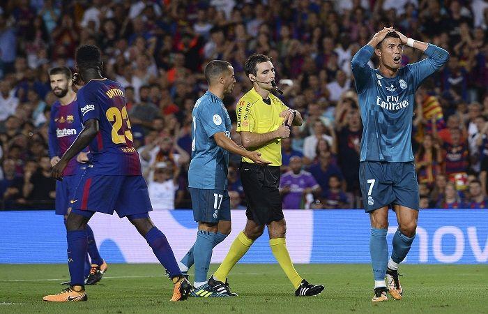 Cristiano Ronaldo sancionado con cinco partido. Foto: AFP