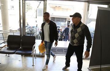 De la Cruz llegó a la Argentina para firmar por River Plate