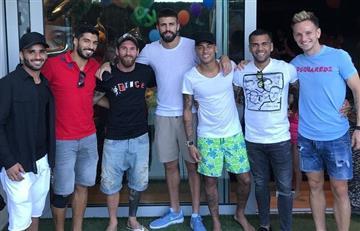 Messi publica una foto con Neymar y Suárez