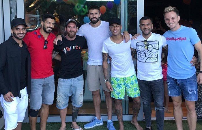Messi se reúne con Neymar y Súarez. Foto: Instagram