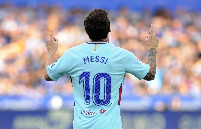 Messi llega a la Argentina. Foto: AFP