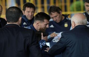 Messi y el noble gesto con un niño uruguayo
