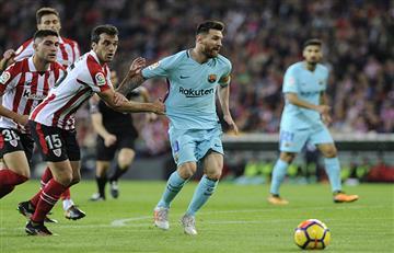 Los dos disparos de Messi que impactaron en el poste