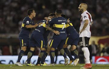 Boca derrotó 2-1 a River en el Monumental y queda como único líder del torneo