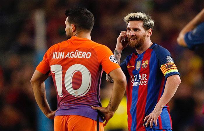Lionel Messi - Sergio Agüero (Foto: Twitter)