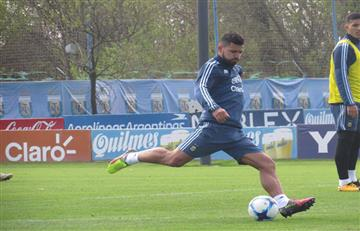 Selección argentina: Sampaoli ensayó con Agüero de '9'