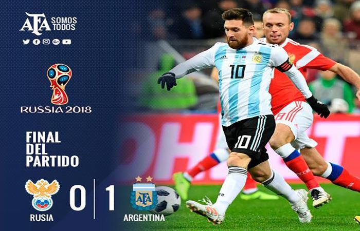 Argentina inició con triunfo el camino a Rusia 2018. Foto: Facebook