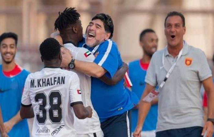 Diego Maradona consigue su primer triunfo con el Al Fujairah
