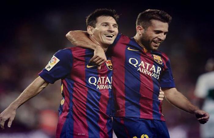 Jordi Alba y Lionel Messi. (FOTO: Facebook Jordi Alba)