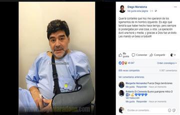 Diego Armando Maradona fue operado del hombro