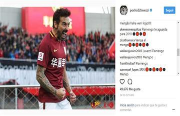 Hinchas del Flamengo piden a Ezequiel Lavezzi