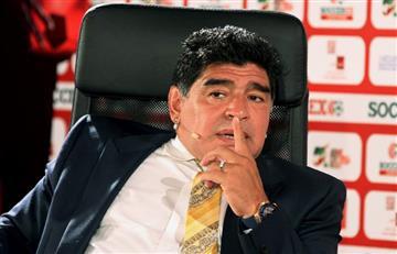 VIDEO: Diego Armando Maradona banca a Lanús