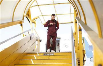 Messi en el banco frente a la Juventus
