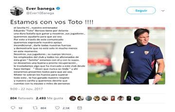 Mira la emotiva carta del Sevilla para Berizzo