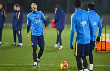 Javier Mascherano habría pedido salir del Barcelona en enero