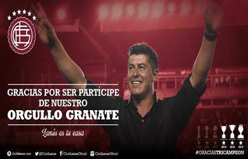 Hinchas de Lanús despiden a Jorge Almirón en último partido con Lanús