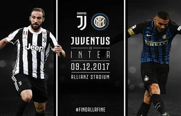 Juventus e Inter igualan 0-0 en el descanso