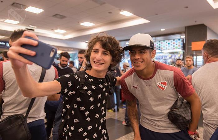 'El Rojo' ya se encuentra en Brasil para disputar la final por la Copa Sudamericana. Foto: Facebook