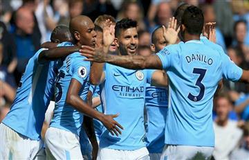 Manchester City con Agüero y Otamendi goleó 4-1 al Tottenham