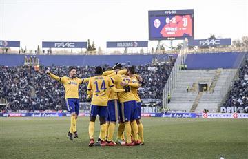 Con Higuaín, la Juventus goleó 0-3 al Bologna a domiciio y no le pierde pisada al Napolí