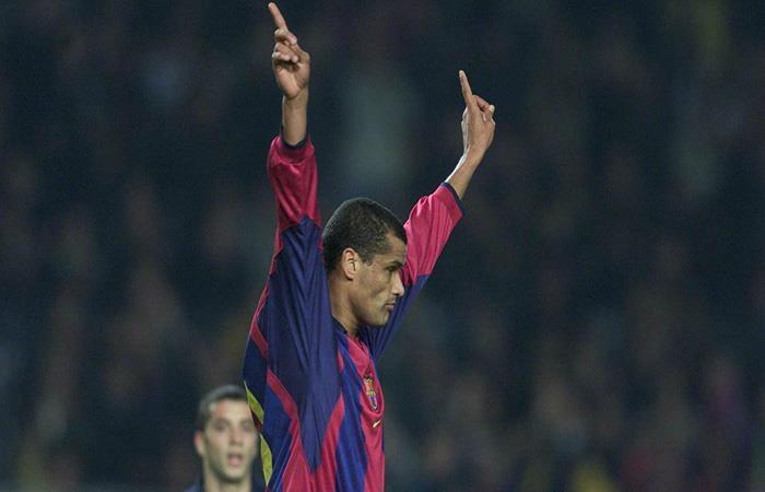 Rivaldo en el Barcelona. Foto: AFP