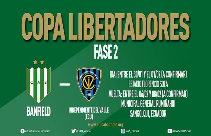 Banfield buscará derrotar a Independiente del Valle de Ecuador. Foto: Facebook
