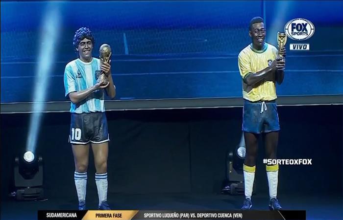 Homenaje a Diego Maradona y Pelé (Foto: Twitter)