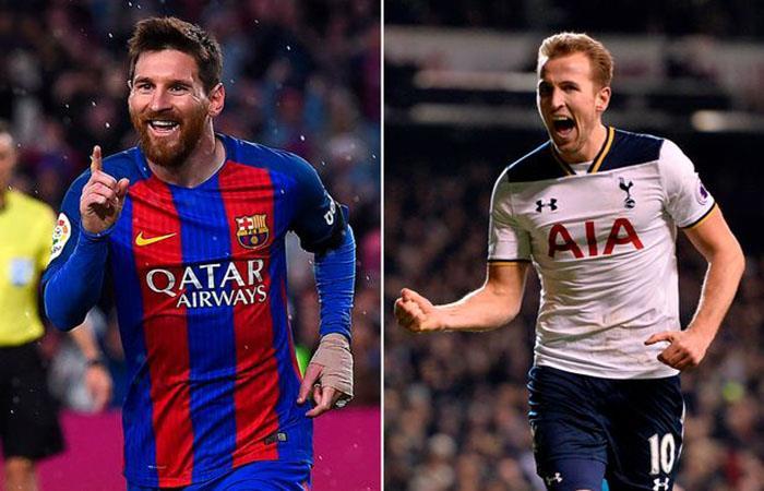 Lionel Messi y Harry Kane. (AFP). Foto: AFP