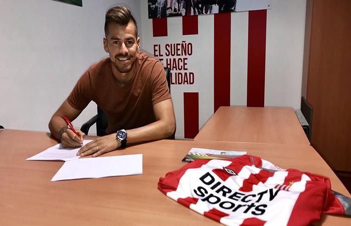 Gastón Gímenez ya es jugador del 'Pincha' (Foto: Twitter)