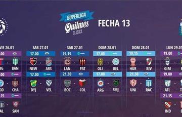 Superliga: Cambio de programación para la fecha 13 y 14