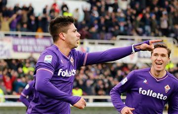 Fiorentina igualó con el Milán con gol de Simeone