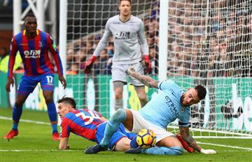 Con Agüero, el City rompió la racha de victorias al empatar con el Crystal Palace