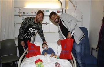 Lionel Messi junto a Luis Suárez visitaron el hospital de Sant Pau