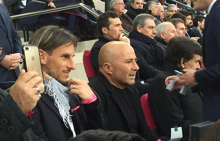 Jorge Sampaoili fue visto en el Camp Nou