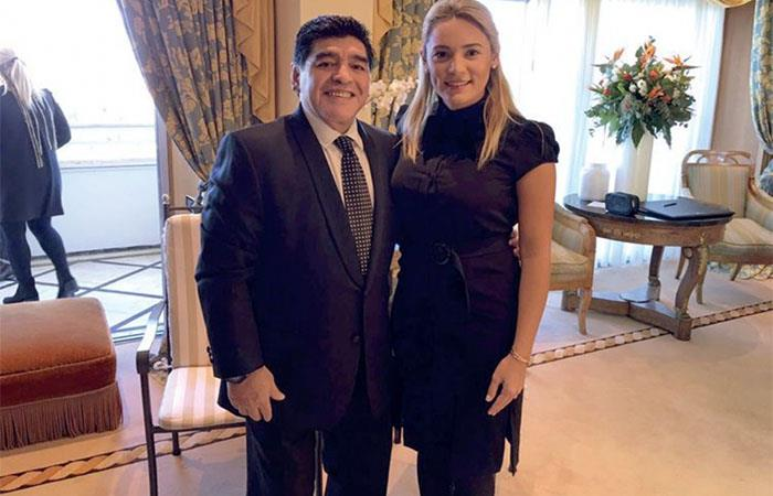 Diego Maradona y Rocío Oliva (AFP). Foto: AFP